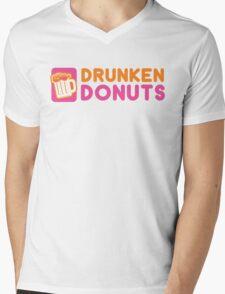 DRUNKEN DONUTS Mens V-Neck T-Shirt