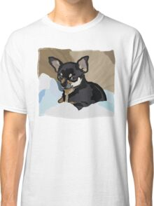 Chihuahua in Blankets Classic T-Shirt