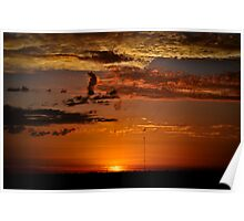 Outback Sunset 3 Poster