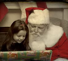 Sitting with Santa by Colleen Drew