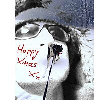 Happy Xmas from a Man and his Dog! Photographic Print