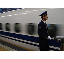 Shinkansen Japanese Bullet Train Photographic Print