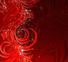 Christmas red background by Olga Altunina