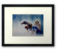 Caught in the Rain Framed Print