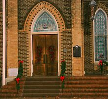 Decorated for Christmas in Crockett, Texas by Susan Russell