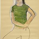 the girl with a green shirt by frederic levy-hadida