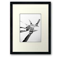 For forks sake Framed Print