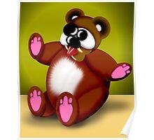 Cross Eyed Bear Poster