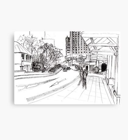 Singapore streetscape Canvas Print