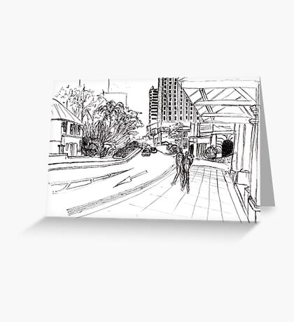 Singapore streetscape Greeting Card