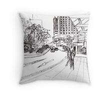 Singapore streetscape Throw Pillow