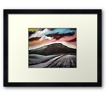 'Winter Dawn - Penyghent' Framed Print
