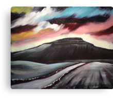 'Winter Dawn - Penyghent' Canvas Print