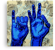 Sign09IF - Hands using American Sign Language for the word IF  Canvas Print