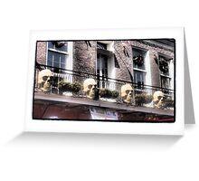 French Quarter Skulls Greeting Card