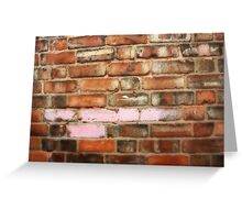 Orange Wall with Pink Paint Greeting Card