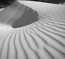 Final Dune in Black and White by stephen foote