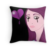 Alone and heartbroken Throw Pillow