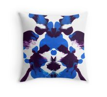 Blue Alien Throw Pillow
