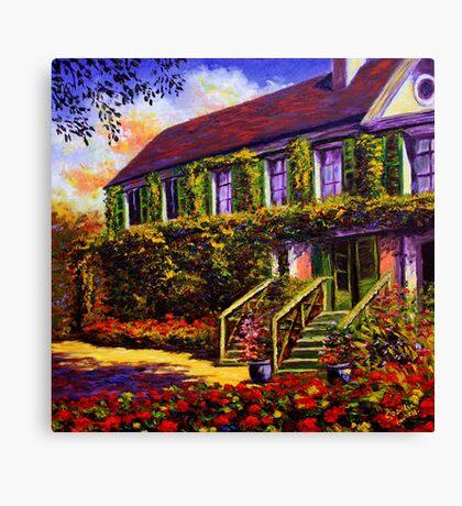 Vines on Claude Monet's House Canvas Print
