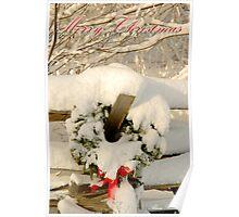 Merry Christmas - Wreath II Poster