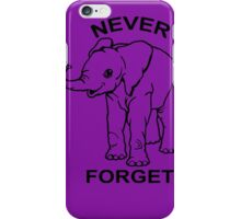 Baby Elephant Never Forget Funny TShirt Epic T-shirt Humor Tees Cool Tee iPhone Case/Skin