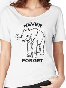 Baby Elephant Never Forget Funny TShirt Epic T-shirt Humor Tees Cool Tee Women's Relaxed Fit T-Shirt