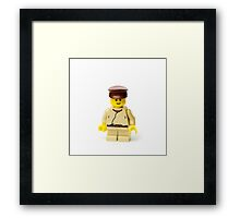 Short Minifig Framed Print