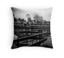 Faster than a ray of light Throw Pillow