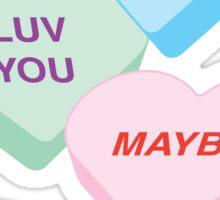 Valentine's Day Love Candy Sticker