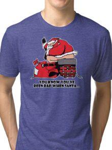 Bad Santa Funny TShirt Epic T-shirt Humor Tees Cool Tee Tri-blend T-Shirt