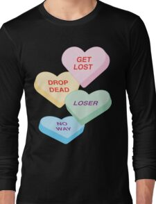 Anti-Valentine's Day Hate Candy Long Sleeve T-Shirt