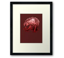 Fire Dog Framed Print