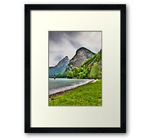 Surfing on a lake Framed Print