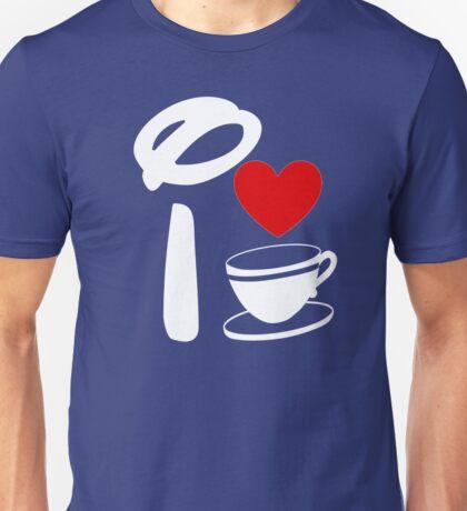 I Heart Tea Cups (Inverted)  Unisex T-Shirt