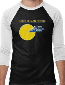 Basic Human Needs Funny TShirt Epic T-shirt Humor Tees Cool Tee Men's Baseball ¾ T-Shirt