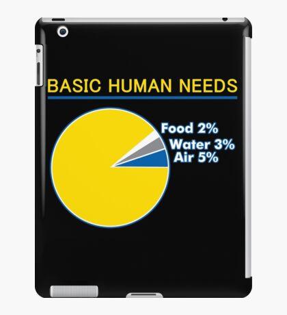 Basic Human Needs Funny TShirt Epic T-shirt Humor Tees Cool Tee iPad Case/Skin