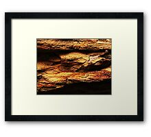The Hidden Land - Refuge Against Red Storms Framed Print