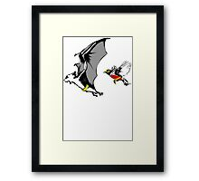 Bat And Robin Funny TShirt Epic T-shirt Humor Tees Cool Tee Framed Print