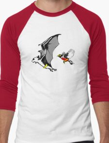 Bat And Robin Funny TShirt Epic T-shirt Humor Tees Cool Tee Men's Baseball ¾ T-Shirt