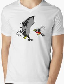 Bat And Robin Funny TShirt Epic T-shirt Humor Tees Cool Tee Mens V-Neck T-Shirt