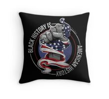 Black History is American History (Red, White, Blue) Throw Pillow