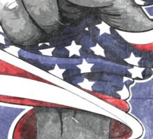 Black History is American History (Red, White, Blue) Sticker