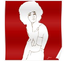 fur hat fashion illustration Poster