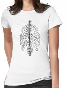 Spine-line-B Womens Fitted T-Shirt