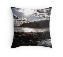 Beach Drama Throw Pillow