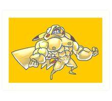Strong pikachu Art Print