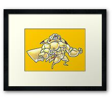 Strong pikachu Framed Print