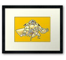 Strong pikachu Framed Print