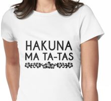 Tropical Hakuna Matata Magical Lion King funny Movie Quotes Womens Fitted T-Shirt